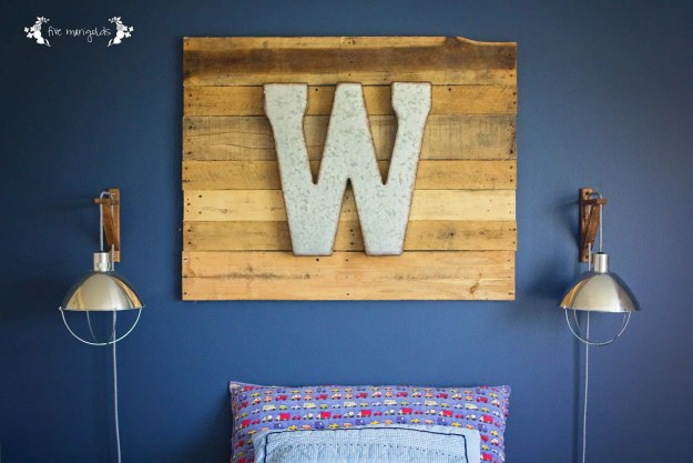 Industrial Monogram Pallet Sign. | Five Marigolds