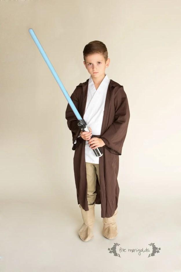 Shop Your Kids' Closet for Halloween Costumes | Jedi Luke SkyWalker Star Wars | Five Marigolds