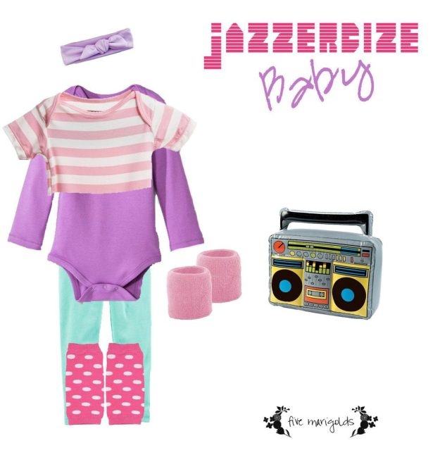 Shop your Kids' Closets for Halloween | Baby Jazzercize Jane Fonda | Five Marigolds