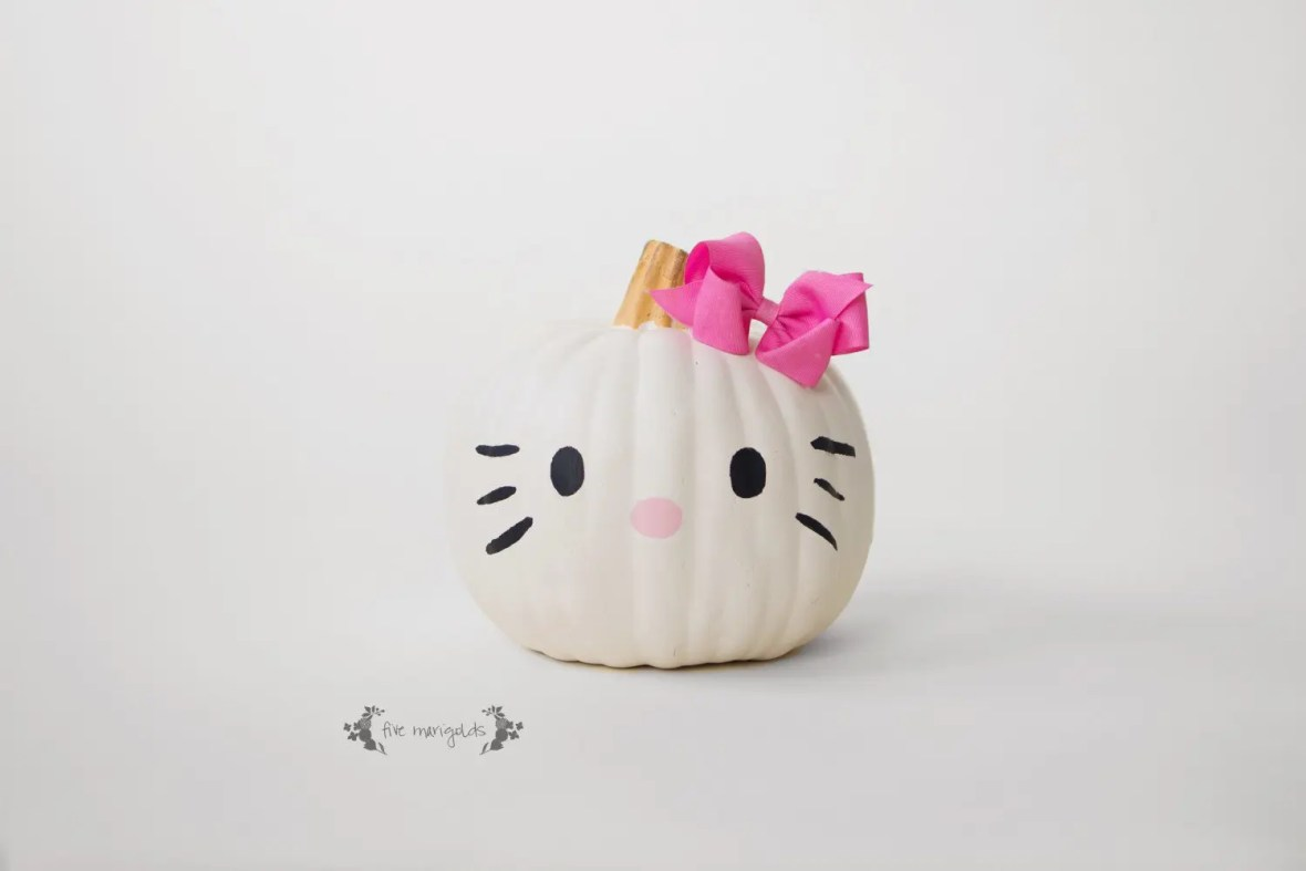Hello Kitty Halloween Pumpkin | Five Marigolds