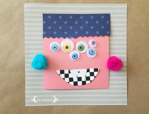 Non-guided Halloween Monster Craft | Five Marigolds