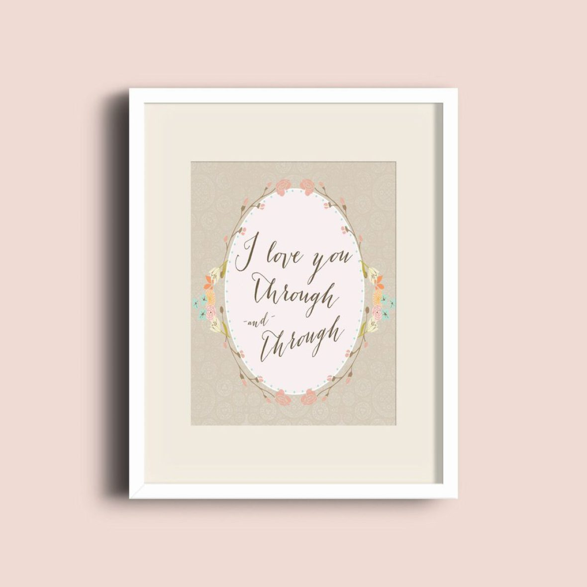 I love You Through and Through Free Printable Artwork Download | Five Marigolds