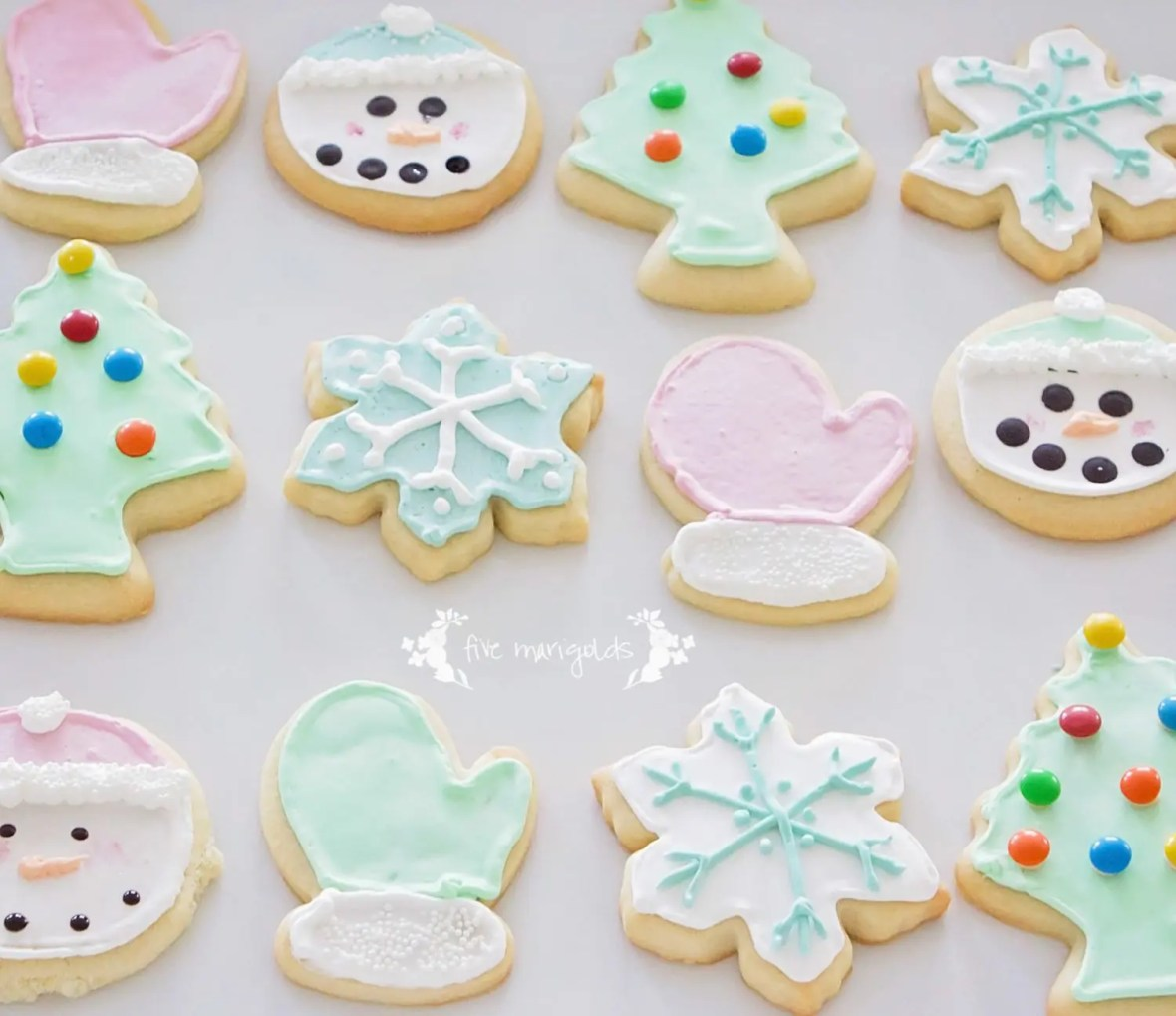 Vanilla Almond Sugar Cookie Cut Out Recipe | Five Marigolds