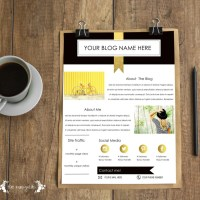 Free media kit template for bloggers five marigolds free media kit template for bloggers maxwellsz