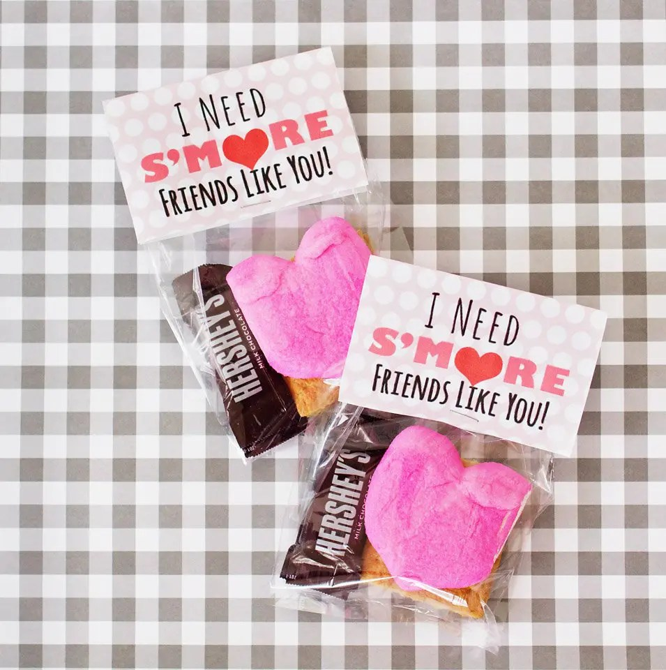 I Need S'More Friends Like You Valentine's Day Printable | www.fivemarigolds.com