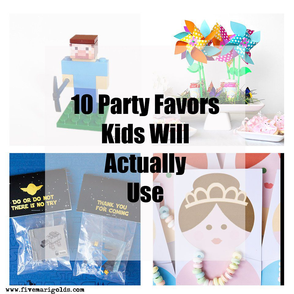 10 Birthday Party Favors Kids Will Actually Use | Five Marigolds