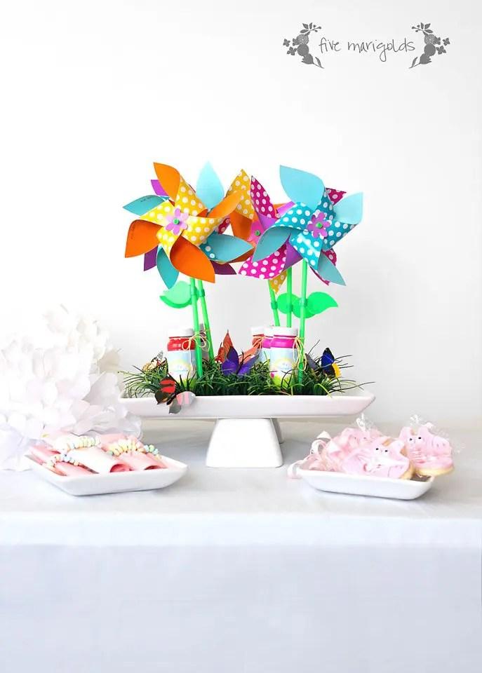 It's Pinwheelie Fun Birthday Favors + Peppa Pig Printables | Five Marigolds