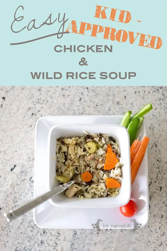 Easy (Kid-Approved!) Crockpot Chicken and Wild Rice Soup | Five Marigolds