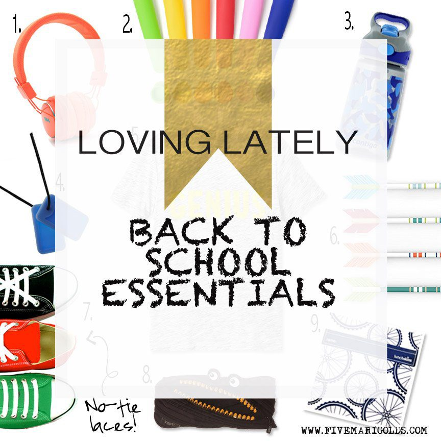 Loving Lately: Top 10 Back To School Must Haves for Boys | Five Marigolds