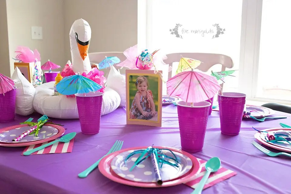How to Throw a Malibu Barbie Birthday Pool Part for Under $50 | Five Marigolds