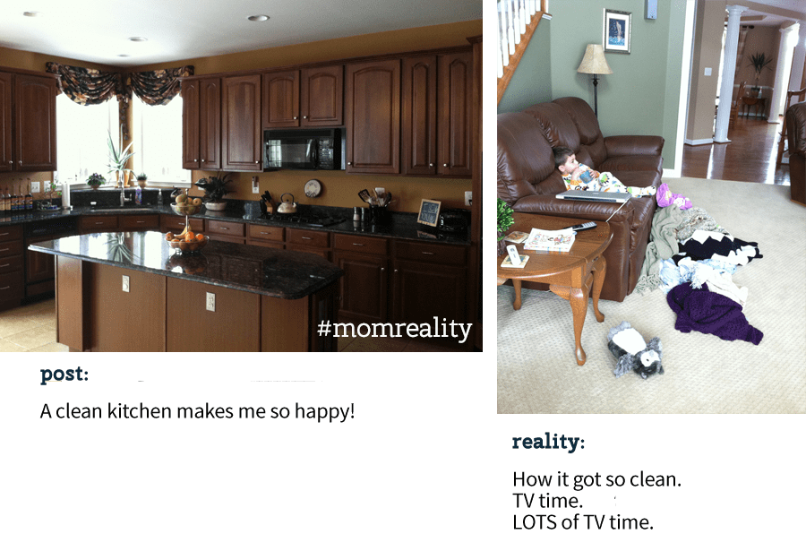 Join the #momreality movement, keeping it real with other moms and going beyond the carefully photoshopped version of our lives.