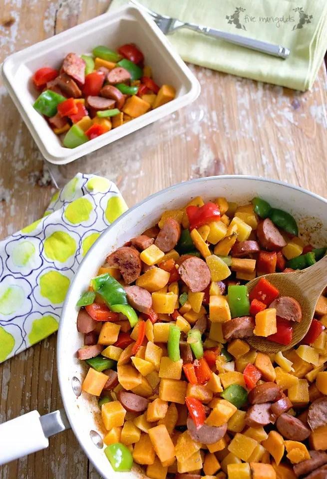 Sweet Potato and Butternut Squash Hash