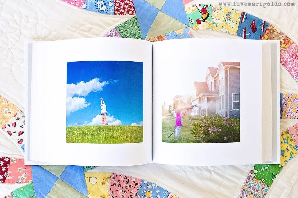 The Printed Photo Challenge - how I printed my entire 365 photo a day project with Blurb. | Five Marigolds #blurbbooks #ad