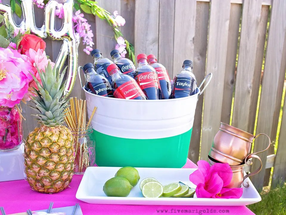 Chill and grill for a laid back summer barbecue. Tutorial for turning a dollar store tablecloth into a custom memory blanket for gatherings. Free printable favor tags for sparklers.