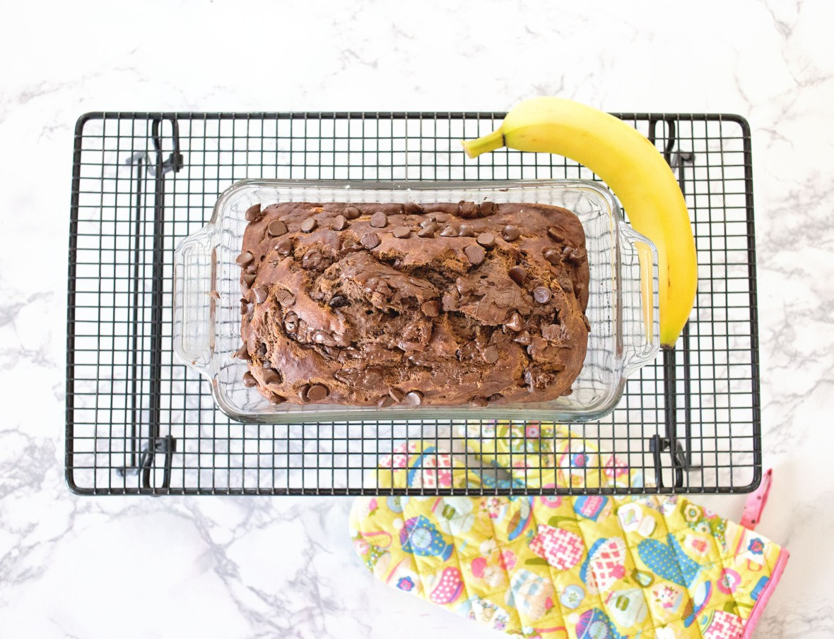 Chocolate Caramel Banana Bread