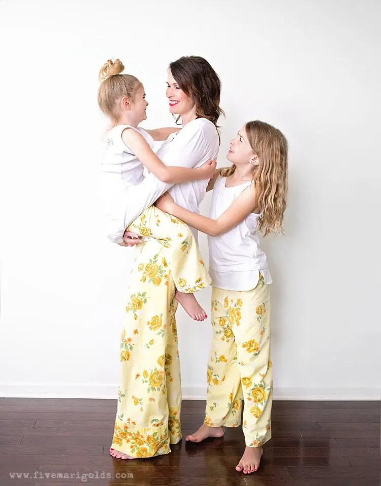 Sew pajama pants from vintage sheets
