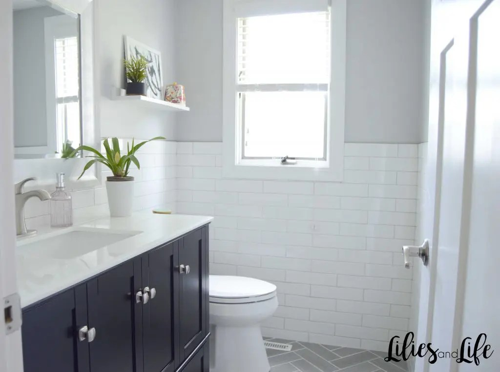 Contemporary Bathroom Remodel before and after