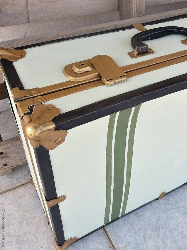 Vintage Suitcase Makeover Upcycle Project