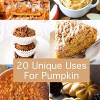 20 Unique Pumpkin Recipes