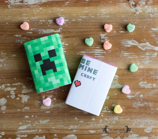 Be Minecraft Valentines Printable | www.fivemarigolds.com