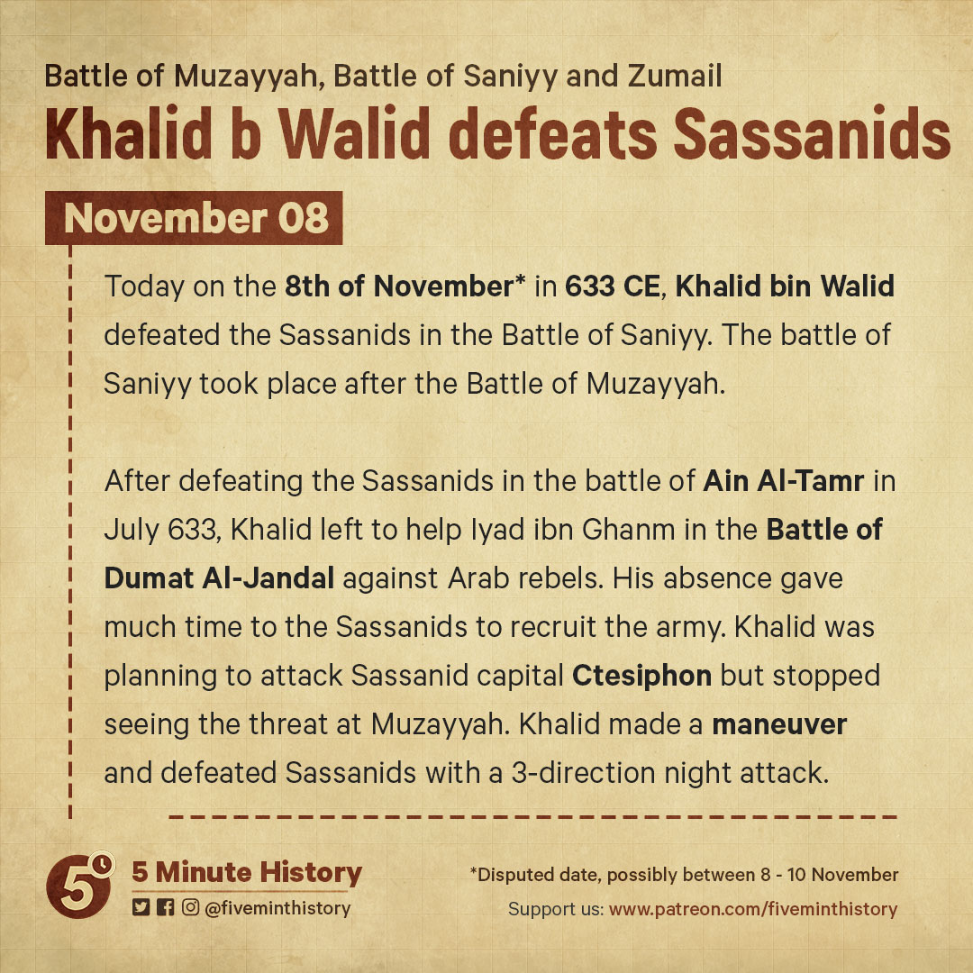 Khalid-b-Walid-defeats-Sassanids-in-the-battle-of-Saniyy-and-Muzayyah