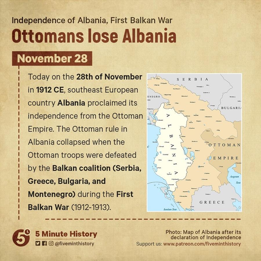 Ottomans lose Albania