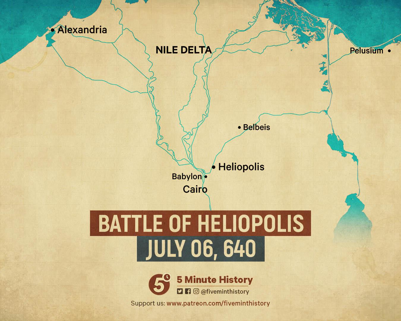 Battle of Heliopolis map