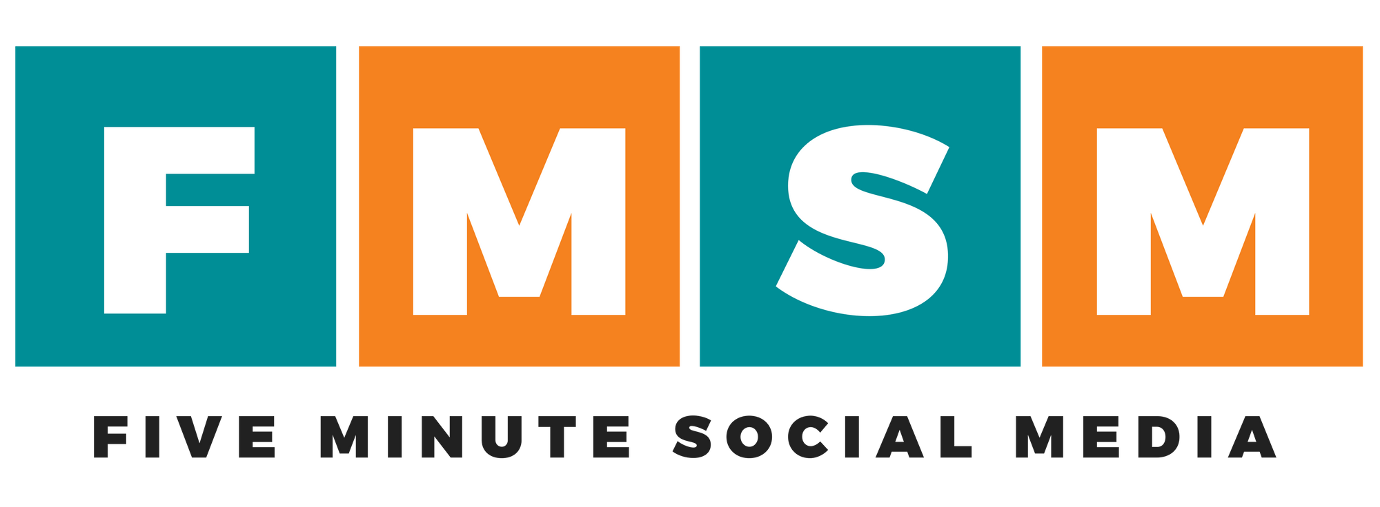 Five Minute Social Media Logo - Horizontal, Black