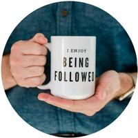 Five Minute Social Media Coffee Mug - I Enjoy Being Followed
