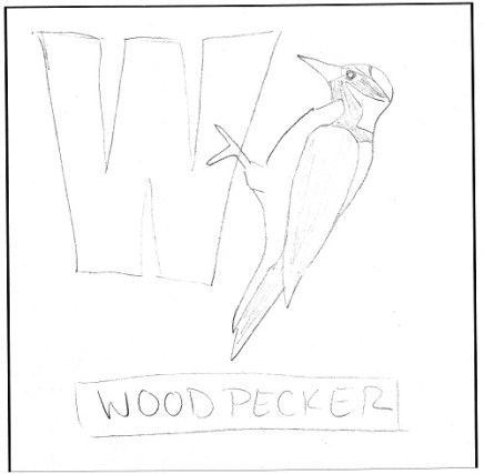 w-is-for-woodpecker