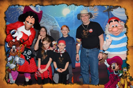 Our family with Hook & Smee