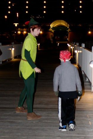 J got to walk back to the Contemporary with Peter Pan