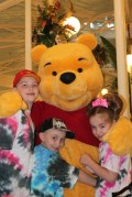 The kids with Pooh Bear