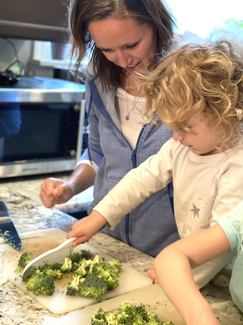 Tips for getting your kids involved with making dinner and baking treats. Five Plates