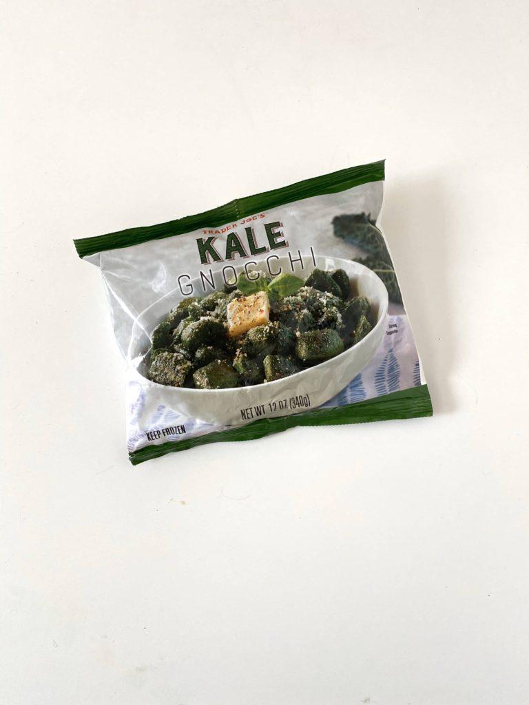 Favorite healthy Trader Joe's freezer items for quick meals: Kale Gnocchi / Five Plates blog