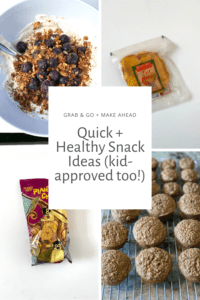 Quick and healthy snack ideas that are kid-approved too! Grab and go options and make ahead. FivePlates.com