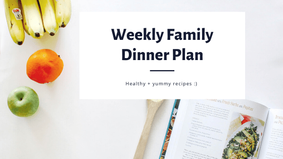 Weekly Healthy Family Dinner Plans/ FivePlates.com