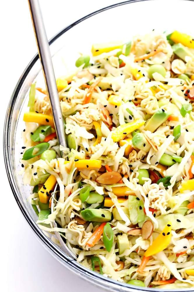 Best Spring & Summer Breakfast, Dinner, Dessert Recipes: Asian Ramen Noodle Salad. FivePlates.com