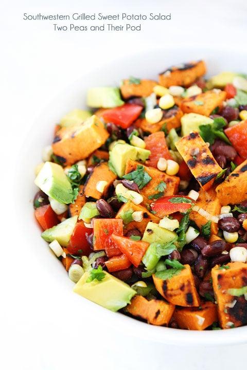 Best Spring & Summer Breakfast, Dinner, Dessert Recipes: Grilled Sweet Potato Salad. FivePlates.com