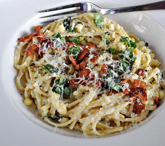 Dinner ideas: Corn Pesto Pasta. FivePlates.com