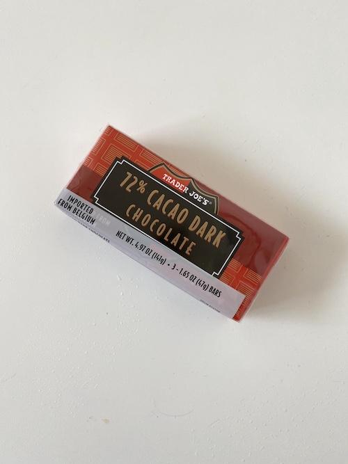 TJs Staple Items: Trader Joe's 72percent Cacao Dark Chocolate