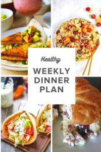 Healthy Dinner Ideas: Chicken Gyros from Cooktoria, BLT Salad with Jalapeno Cashew Dressing from Ambitious Kitchen, Vegan Superfood Tacos from Happy Healthy Life, Chicken Salad Croissant Sandwiches. #healthydinners #easydinners #quickdinners #mealplanning #healthymealplans