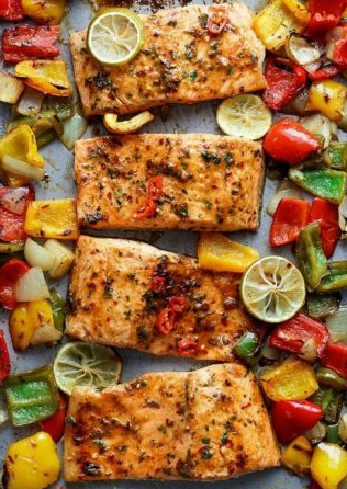 Sheet pan chili lime salmon: a one-pan flavorful dinner from Cucina de Yung. Real food dinners.
