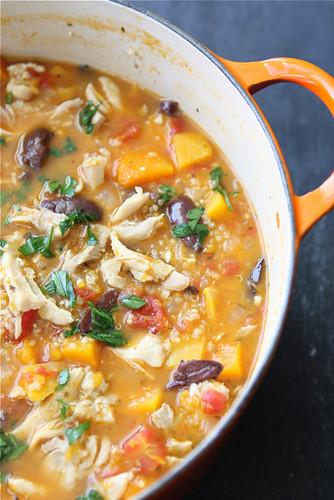 Dinner idea: chicken stew with butternut squash and quinoa