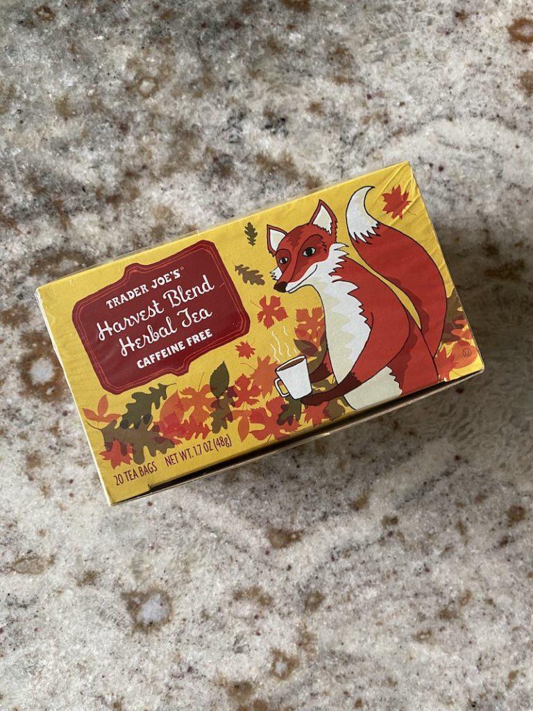 Trader Joe's Harvest Blend Herbal Tea: best fall TJs items