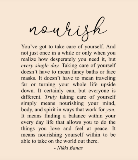 Wellness Gift Guide: Nikki Banas inspirational quote print