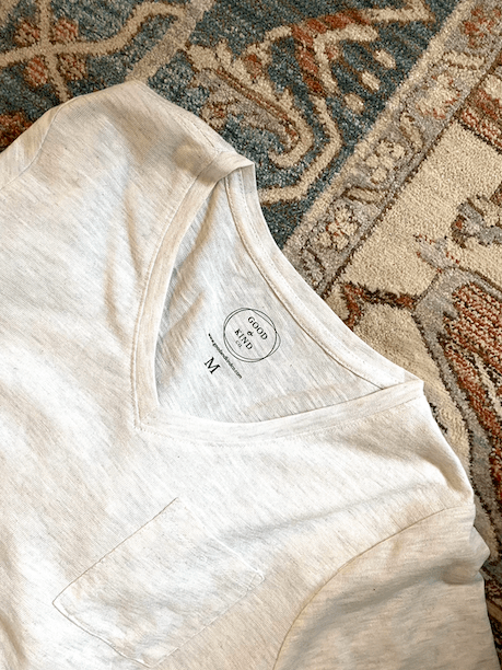 Good & Kind Co. perfect white tee that supports the fight against human trafficking