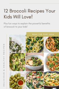 12 Broccoli Recipes Your Kids (And You!) Will Love! Plus fun ways to talk to your kids about the powerful benefits of broccoli. Fiveplates.com