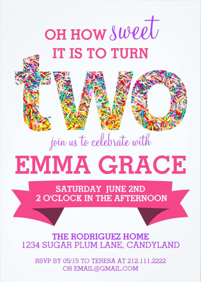 create a 2nd birthday party invitation