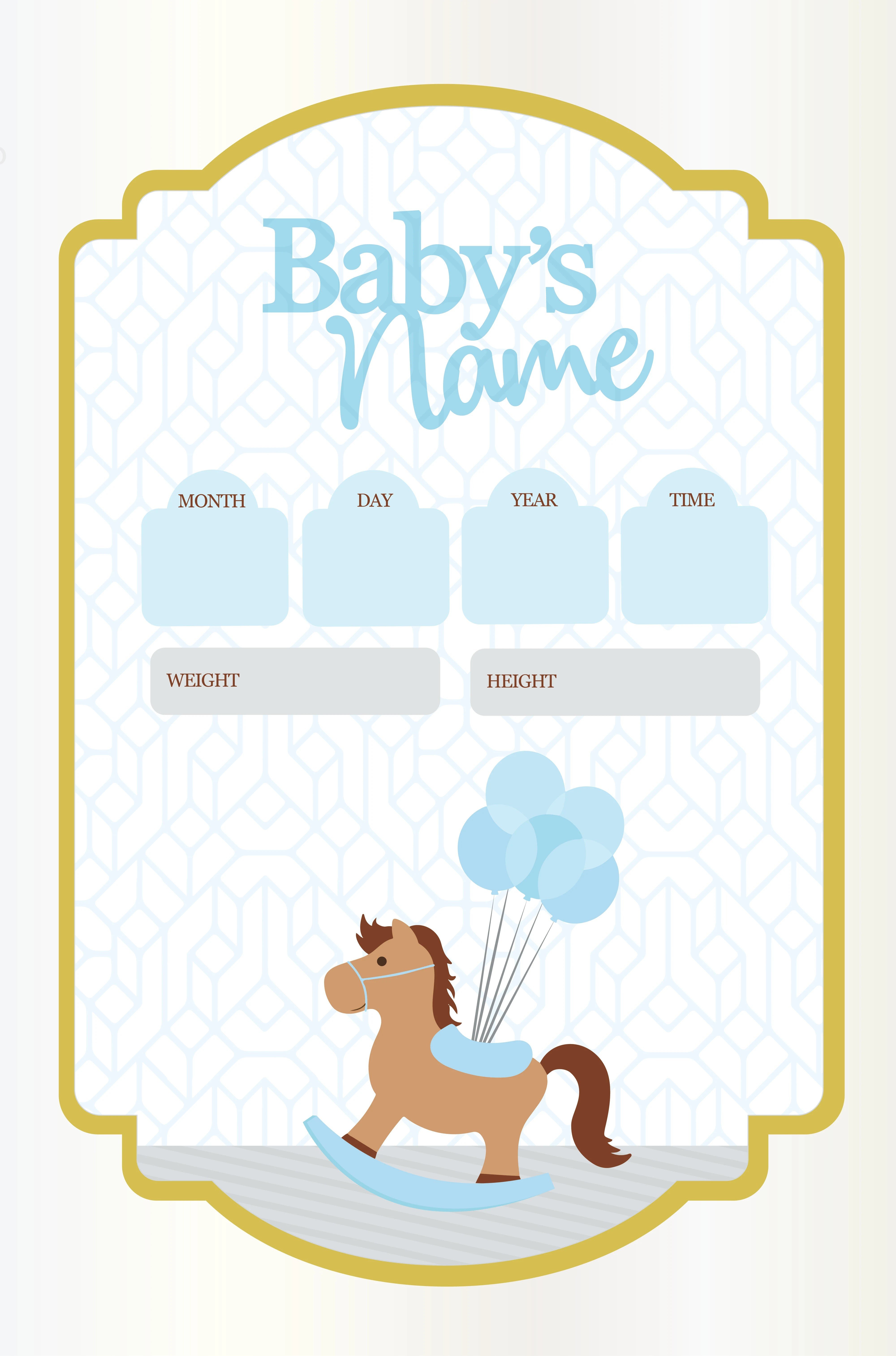 Create and review your birth poster easily with our design tool. Design A Baby Birth Poster By Vanevivi Fiverr